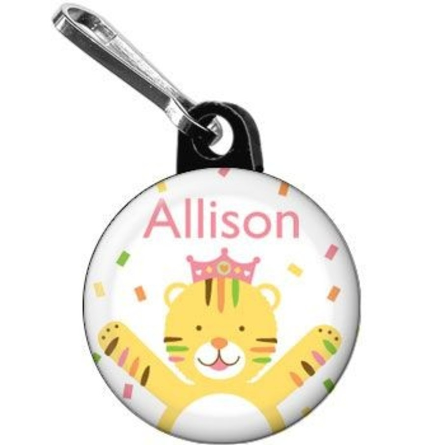 View larger image of Baby Animals 1st Birthday Girl Personalized Mini Zipper Pull (each)