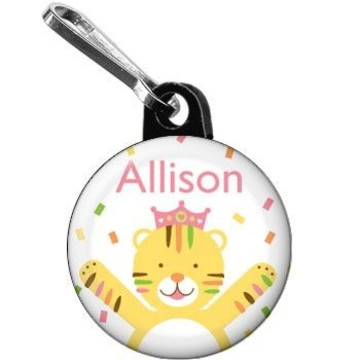 Baby Animals 1st Birthday Girl Personalized Mini Zipper Pull (each)