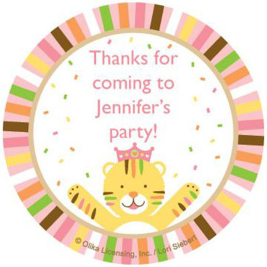 View larger image of Baby Animals 1st Birthday Girl Personalized Stickers (sheet of 12)