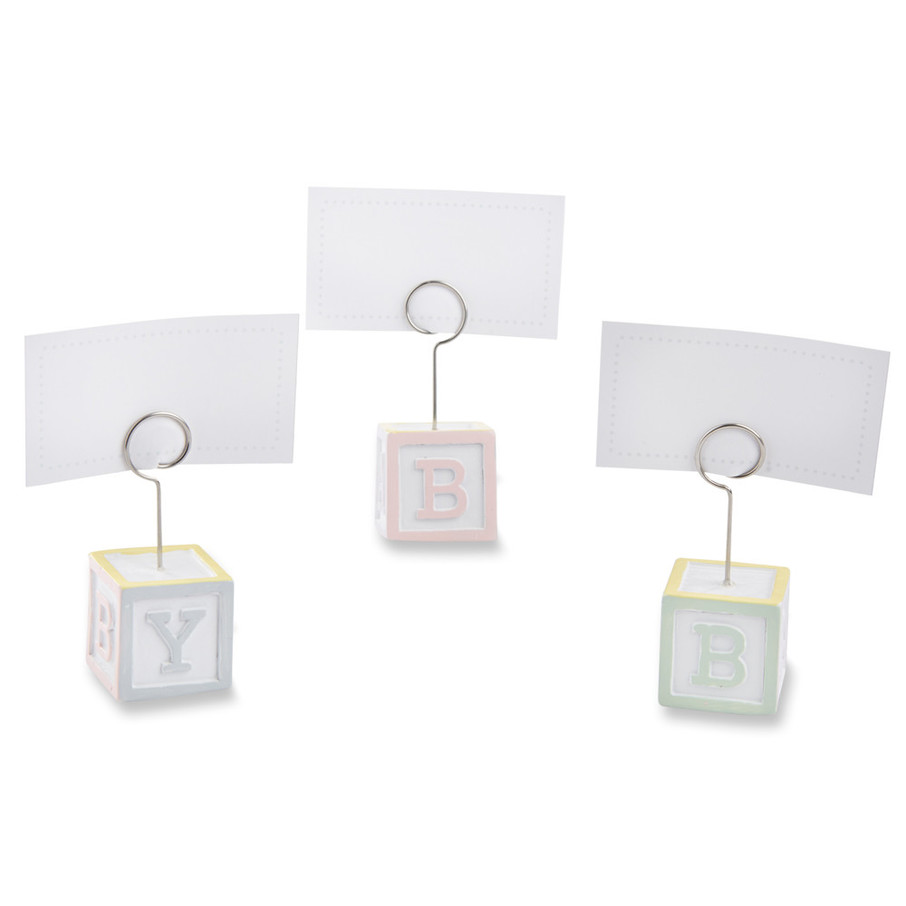 View larger image of Baby Blocks Favor Place Card Holders (Set of 6)