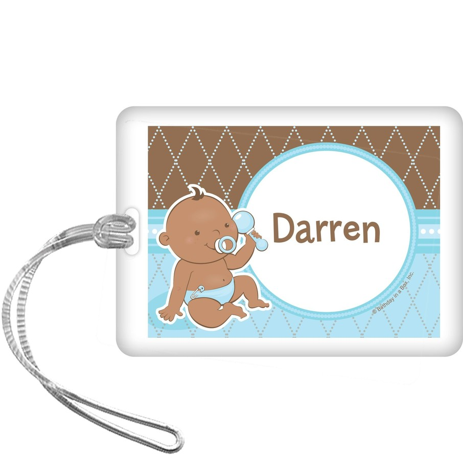 View larger image of Baby Boy - African American Personalized Bag Tag (each)