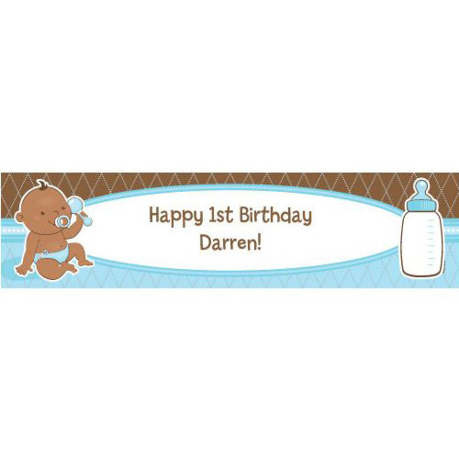 View larger image of Baby Boy - African American Personalized Banner (Each)