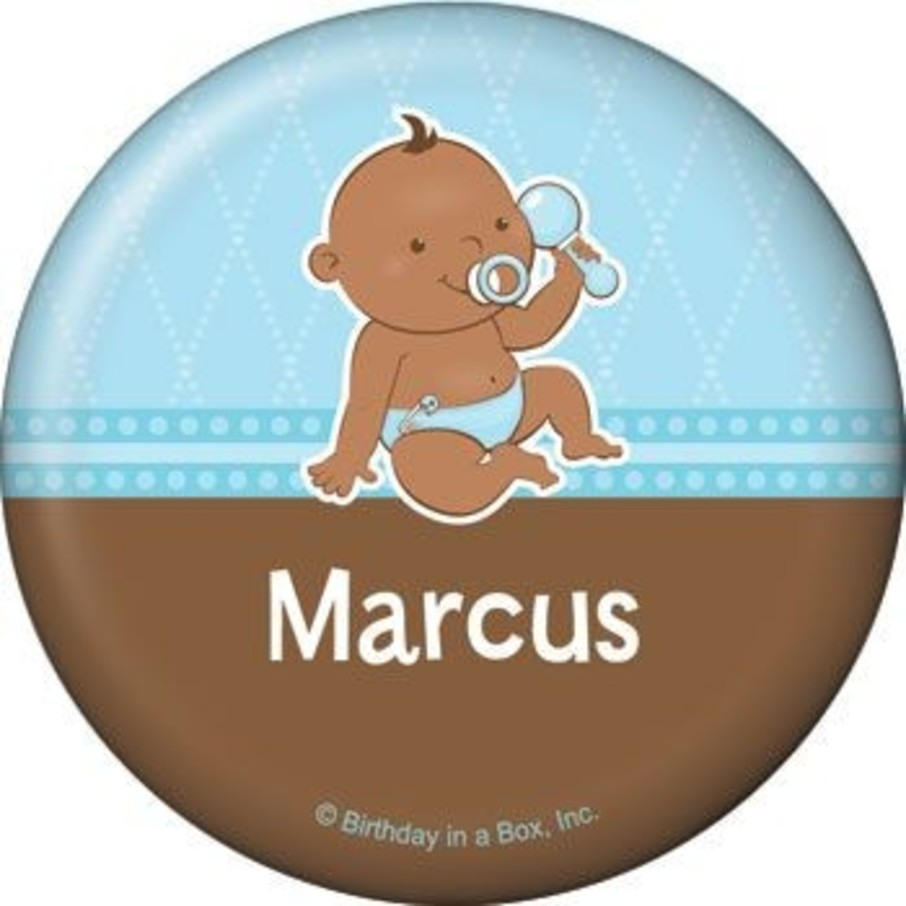 View larger image of Baby Boy - African American Personalized Button (each)