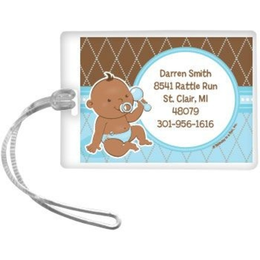 View larger image of Baby Boy - African American Personalized Luggage Tag (each)