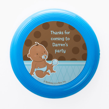 Baby Boy African American Personalized Mini Discs (Set of 12)
