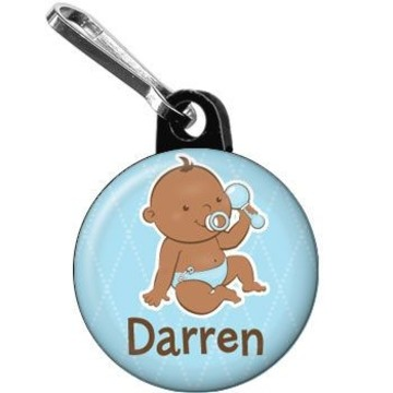Baby Boy - African American Personalized Mini Zipper Pull (each)