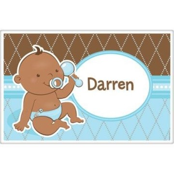 Baby Boy - African American Personalized Placemat (each)