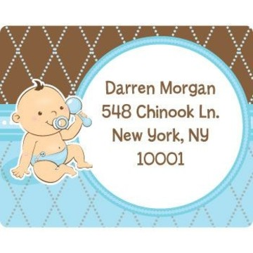Baby Boy Personalized Address Labels (sheet of 15)