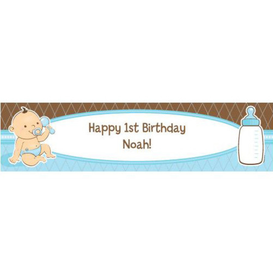 View larger image of Baby Boy Personalized Banner (each)