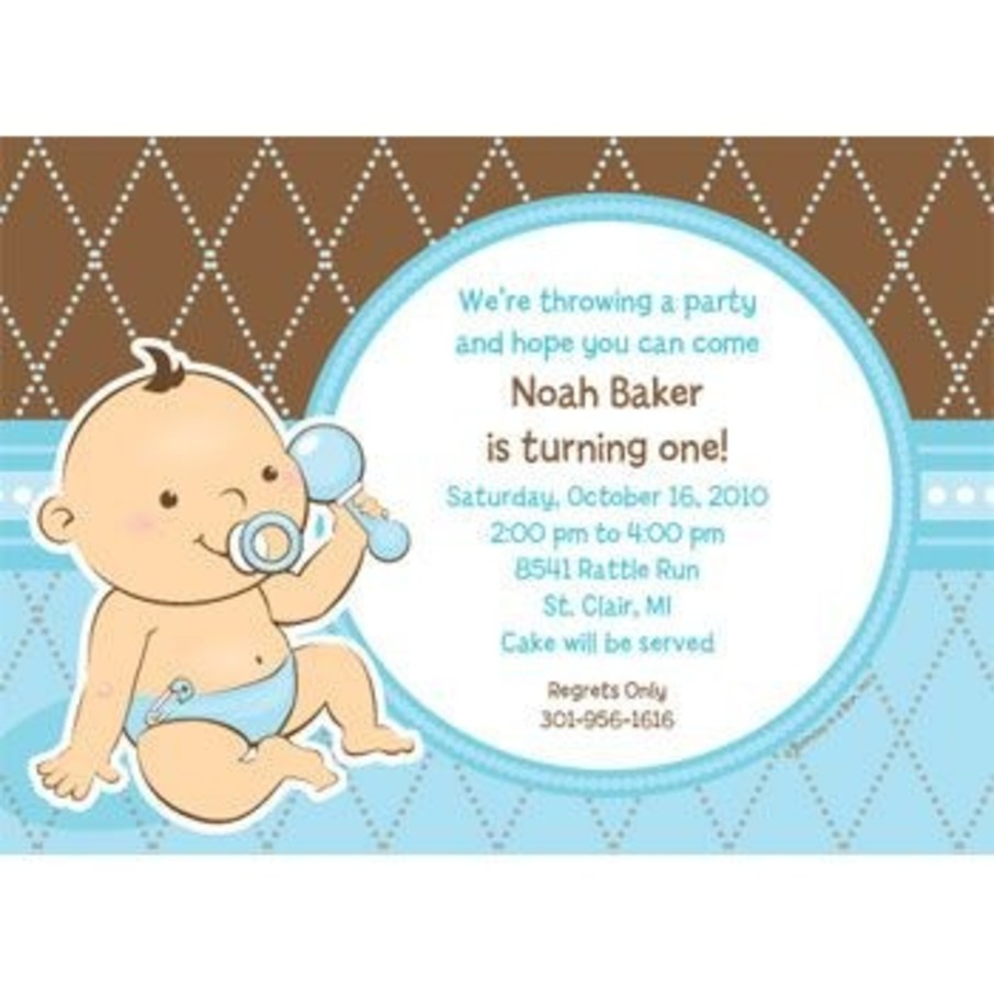 View larger image of Baby Boy Personalized Invitation (each)