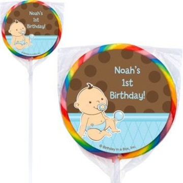 Baby Boy Personalized Lollipops (pack of 12)