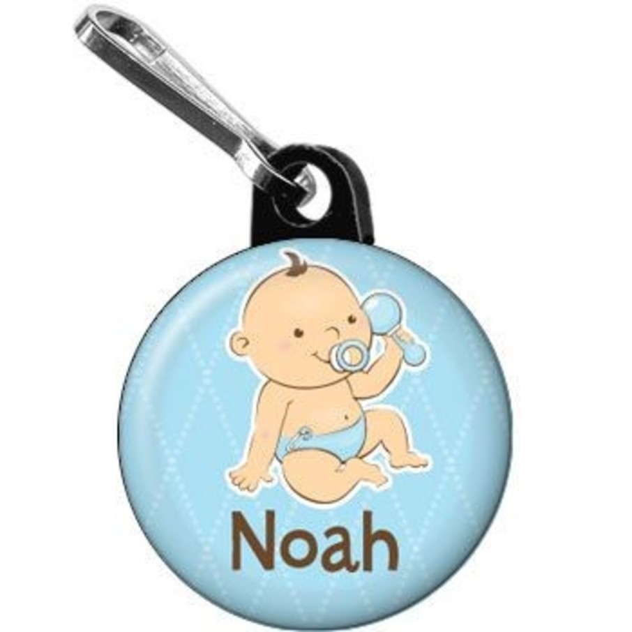 View larger image of Baby Boy Personalized Mini Zipper Pull (each)