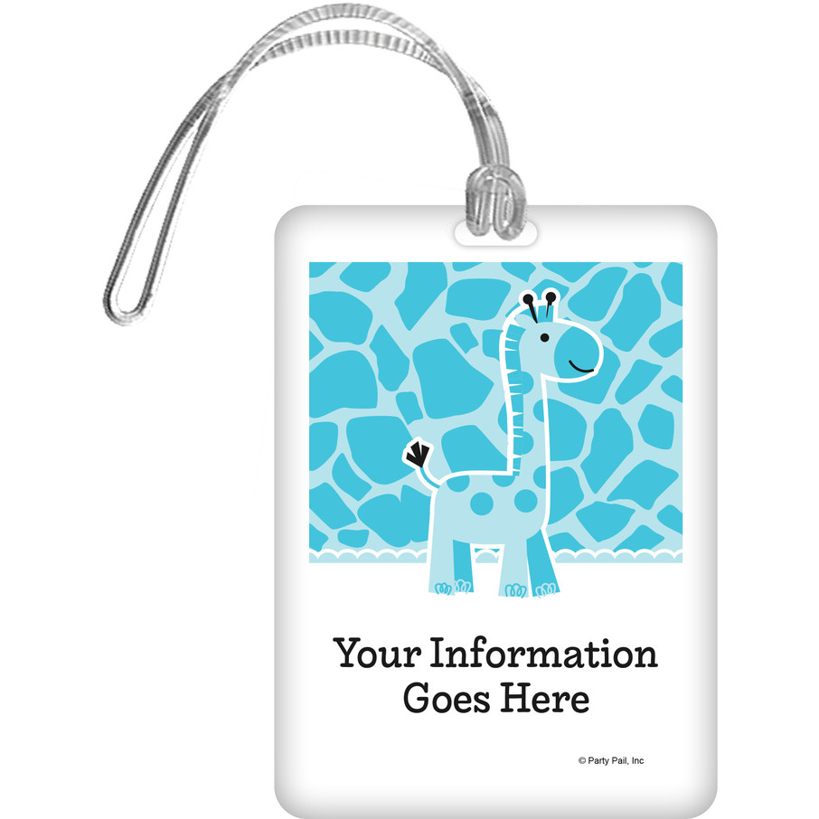 View larger image of Baby Boy Safari Personalized Luggage Tag (Each)