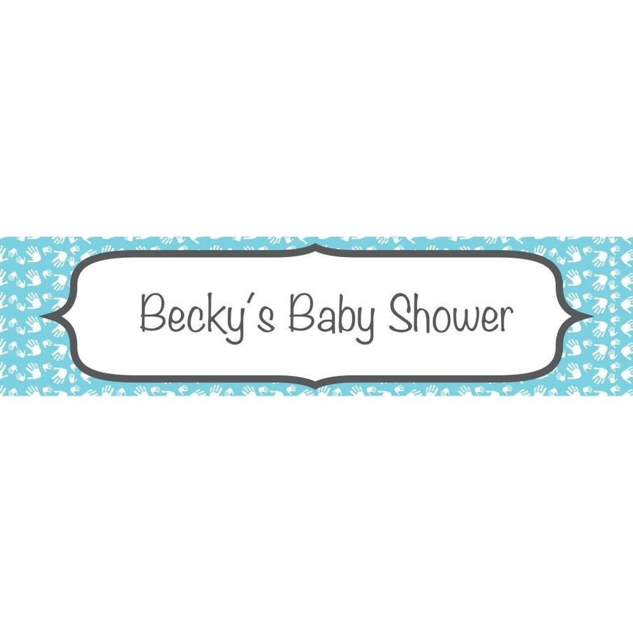 View larger image of Baby Feet Blue Personalized Banner (Each)