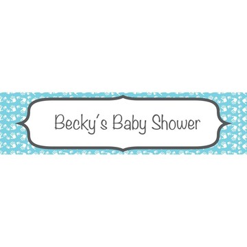 Baby Feet Blue Personalized Banner (Each)