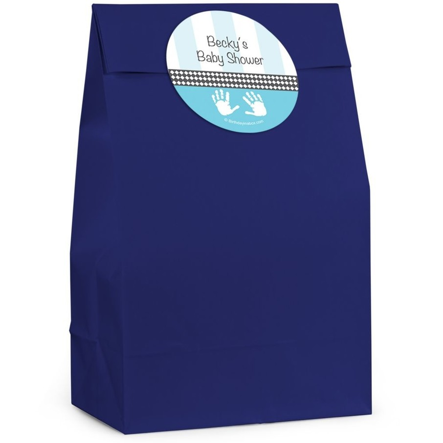 View larger image of Baby Feet Blue Personalized Favor Bag (Set Of 12)