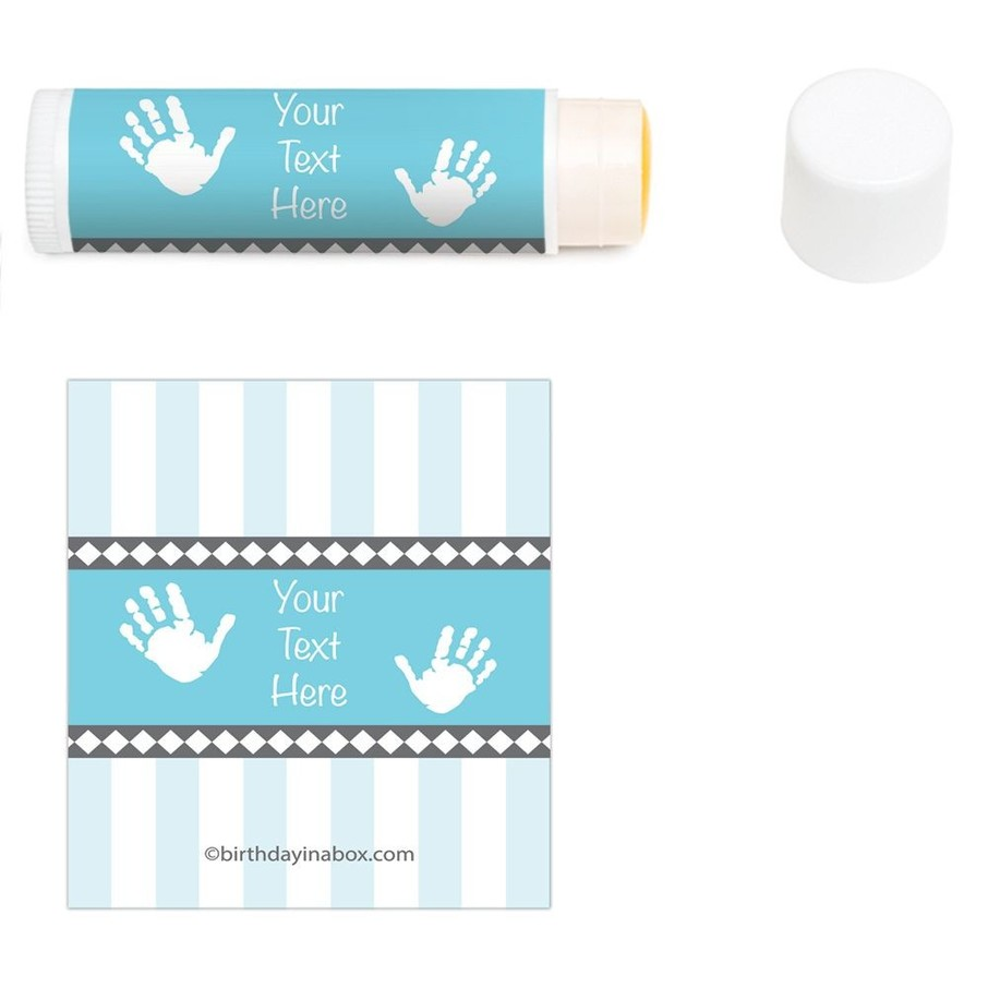 View larger image of Baby Feet Blue Personalized Lip Balm (12 Pack)