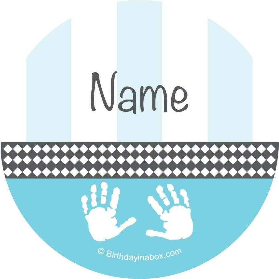 View larger image of Baby Feet Blue Personalized Mini Stickers (Sheet of 24)