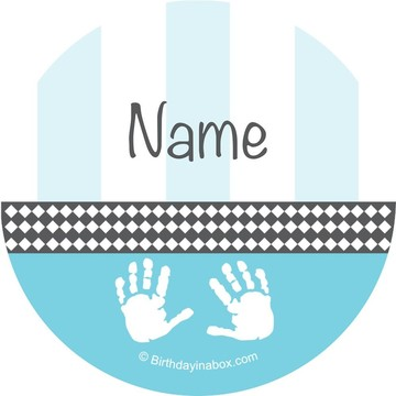 Baby Feet Blue Personalized Mini Stickers (Sheet of 24)