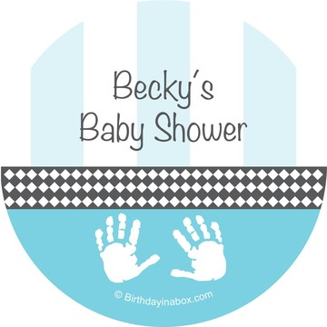 Baby Feet Blue Personalized Stickers (Sheet of 12)