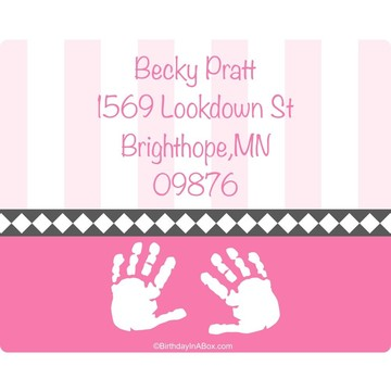 Baby Feet Pink Personalized Address Labels (Sheet of 15)