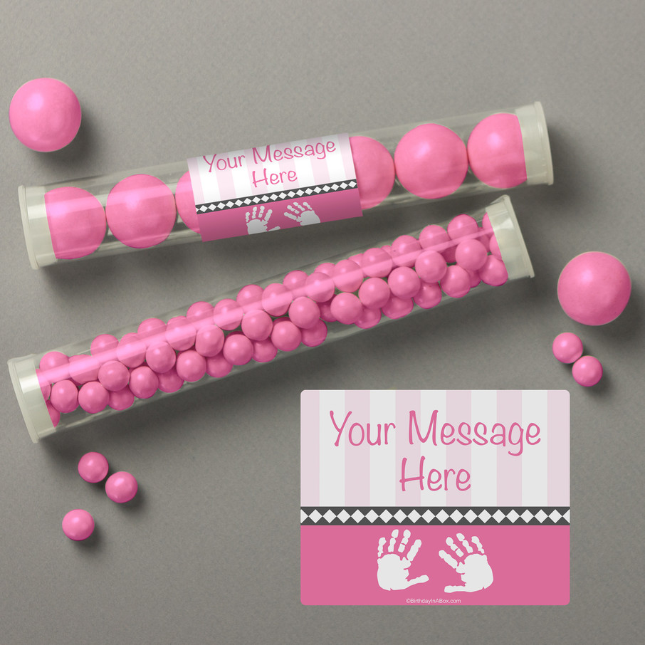 View larger image of Baby Feet Pink Personalized Candy Tubes (12 Count)