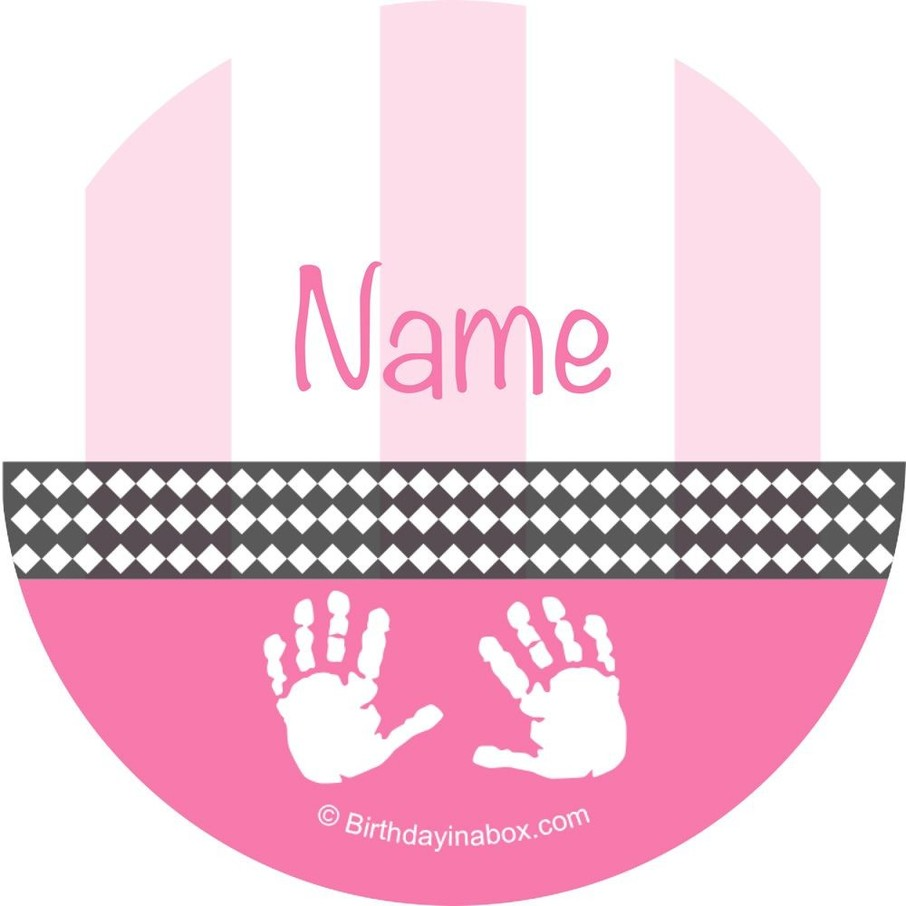 View larger image of Baby Feet Pink Personalized Mini Stickers (Sheet of 24)