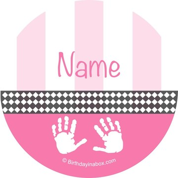 Baby Feet Pink Personalized Mini Stickers (Sheet of 24)