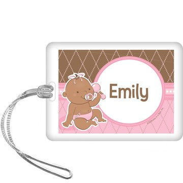 Baby Girl - African American Personalized bag Tag (each)