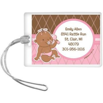 Baby Girl - African American Personalized Luggage Tag (each)
