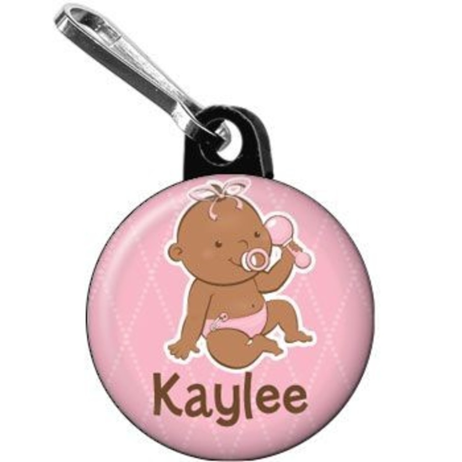 View larger image of Baby Girl - African American Personalized Mini Zipper Pull (each)
