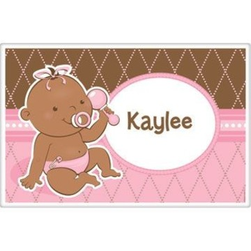 Baby Girl - African American Personalized Placemat (each)