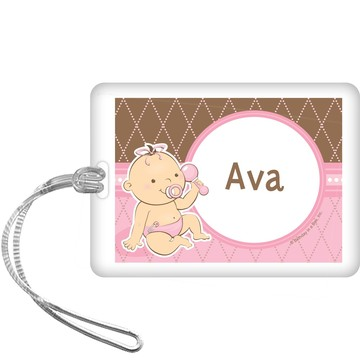 Baby Girl Personalized Bag Tag (each)
