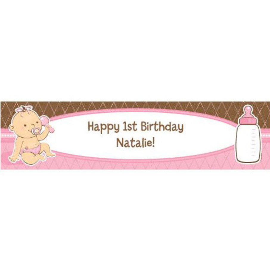 View larger image of Baby Girl Personalized Banner (each)