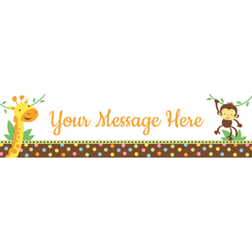 Baby Jungle Personalized Banner (Each)