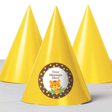 Baby Jungle Personalized Party Hats (8 Count)
