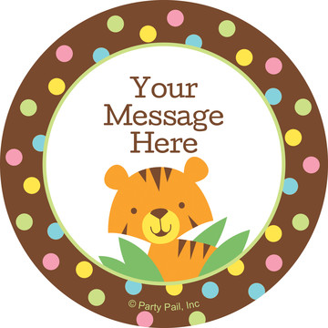 Baby Jungle Personalized Stickers (Sheet of 12)