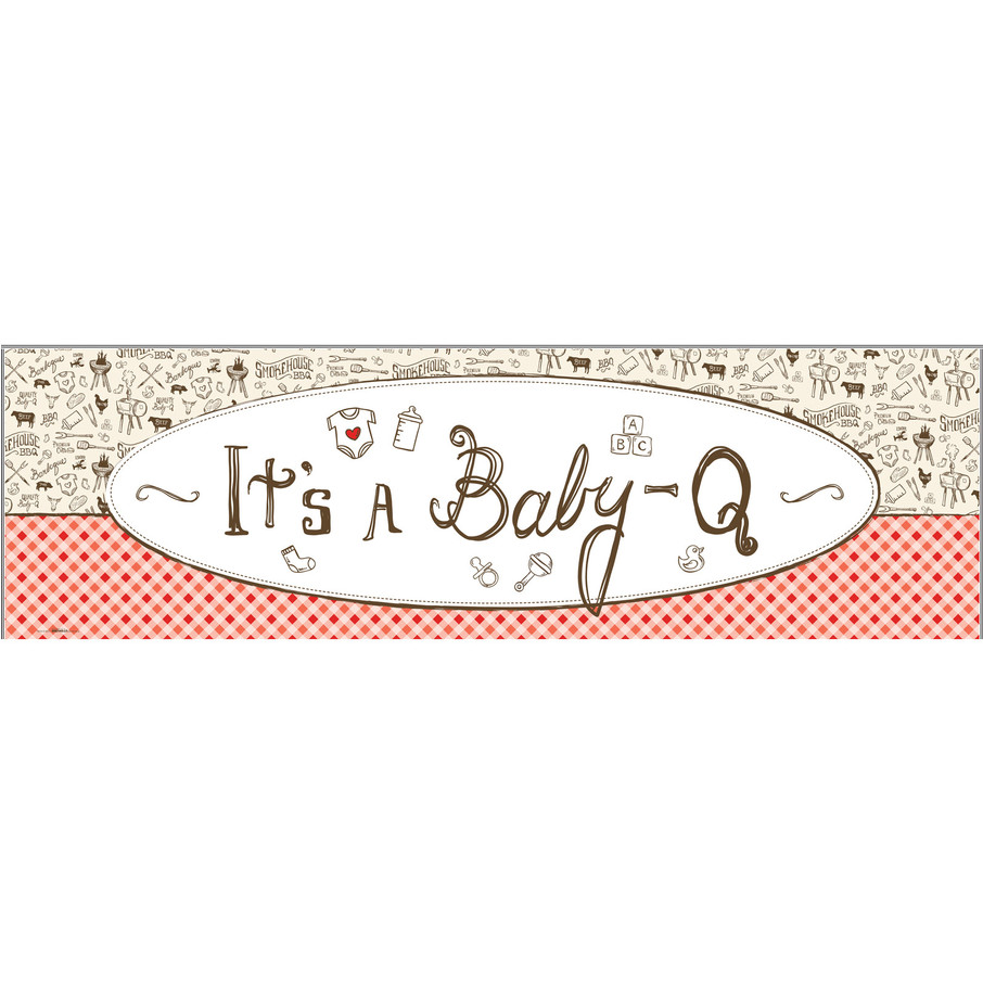 View larger image of Baby-Q Shower Banner