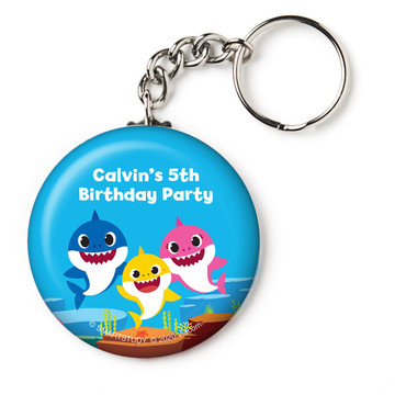 "Baby Shark Personalized 2.25"" Key Chain"