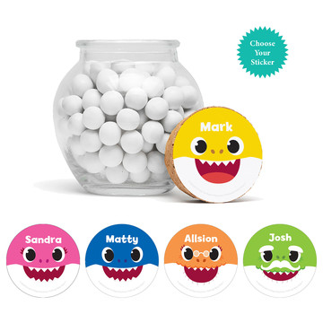 """Baby Shark Personalized 3"""" Glass Sphere Jars, 12ct"""