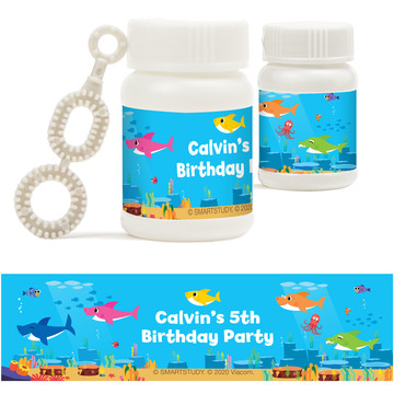 Baby Shark Personalized Bubbles, 18ct
