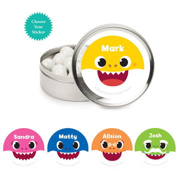 Baby Shark - Choose Your Shark Personalized Mint Tins, 12ct