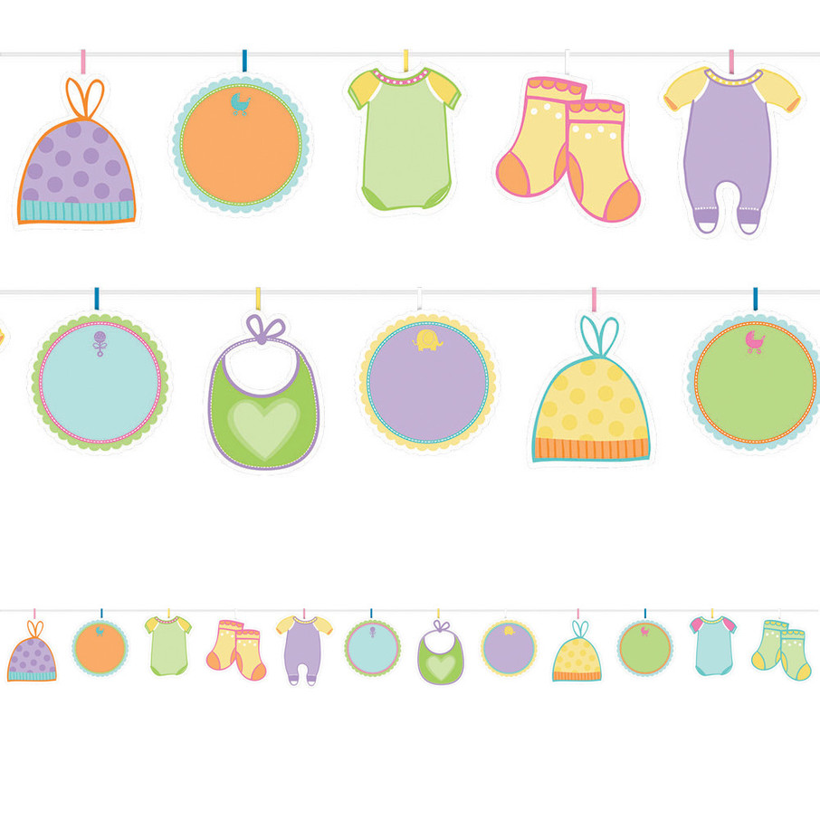 View larger image of Baby Shower Autograph Garland