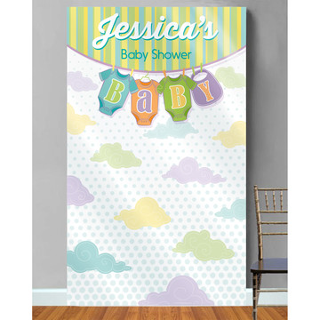 Baby Shower Personalized Photo Backdrop Each)