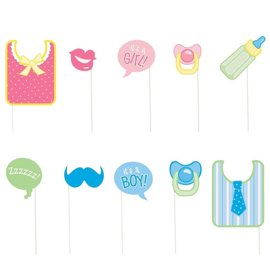 View larger image of Baby Shower Photo Props Set (10 Pack)