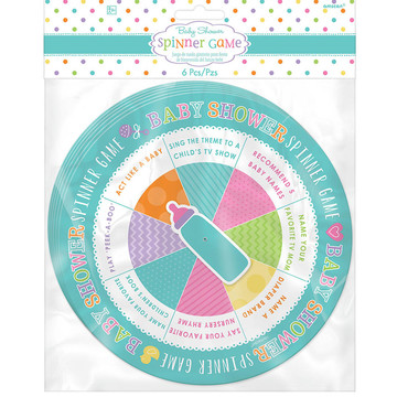Baby Shower Spinner Game (6 Count)