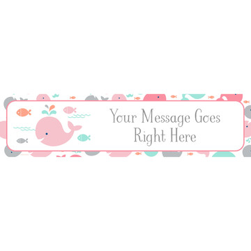 Baby Whale Pink Personalized Banner (Each)