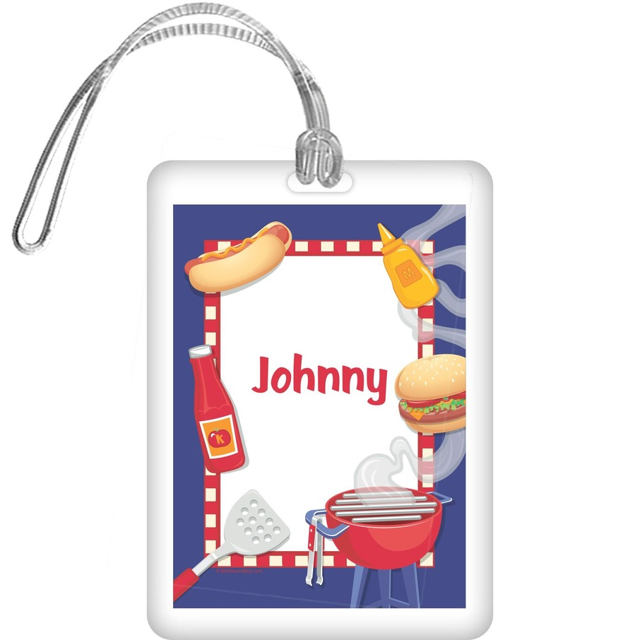 View larger image of Backyard Bbq Personalized Bag Tag (each)