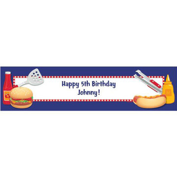 Backyard BBQ Personalized Banner (each)