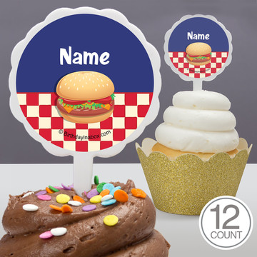 Backyard Bbq Personalized Cupcake Picks (12 Count)